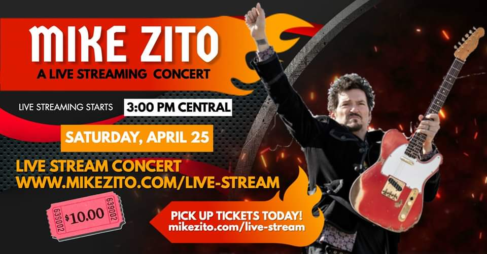 Mike Zito – Live Streaming Concert on 04/25/2020